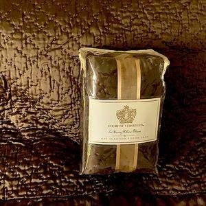 Court of Versailles brown silk pillow shams